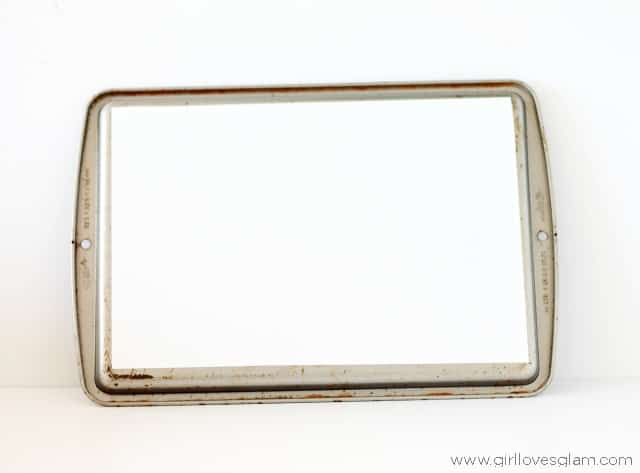 How to make a magnetic dry erase board on www.girllovesglam.com