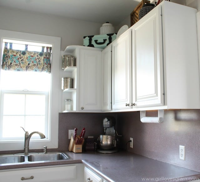 Kitchen Cabinet Makeover on www.girllovesglam.com