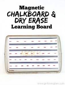 Magnetic Chalkboard and Dry Erase Learning Board on www.girllovesglam.com