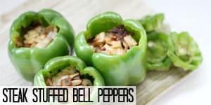 Steak Stuffed Bell Peppers