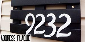 DIY Address Plaque on www.girllovesglam.com