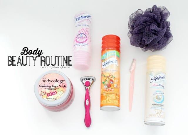 Body Beauty Routine on www.girllovesglam.com #SkintimateStars