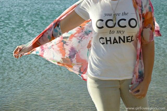 Coco Chanel quote tshirt