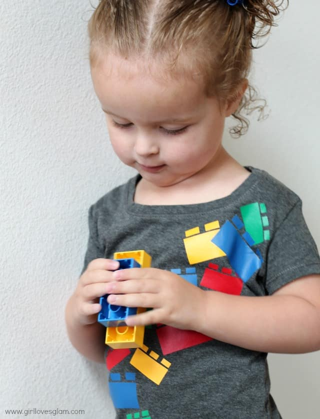 DIY Easy Lego Shirt Tutorial