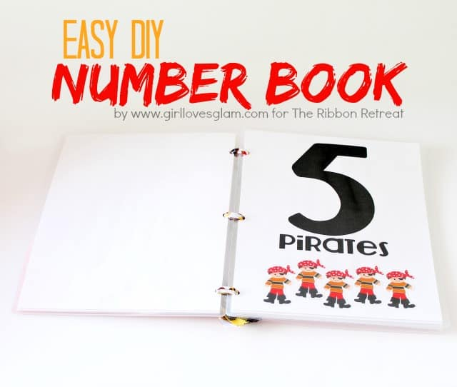 DIY Number Book from www.girllovesglam.com for The Ribbon Retreat