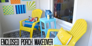 Enclosed Porch Makeover on www.girllovesglam.com