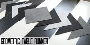 Geometric Table Runner tutorial on www.girllovesglam.com