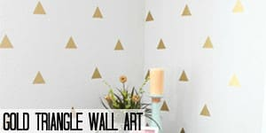 Gold Triangle Wall Art that is removable on www.girllovesglam.com