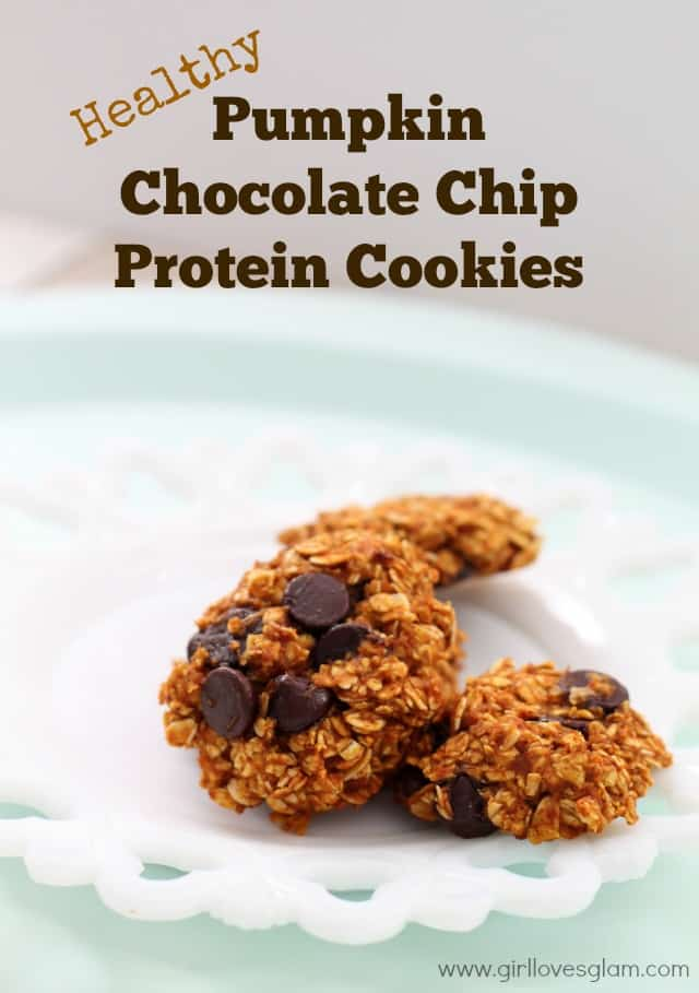 Healthy Pumpkin Chocolate Chip Protein Cookies on www.girllovesglam.com