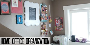 Home Office Organization on www.girllovesglam.com