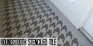 Houndstooth Stenciled Tile Tutorial on www.girllovesglam.com