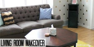 Colorful and Modern Living Room Makeover on www.girllovesglam.com