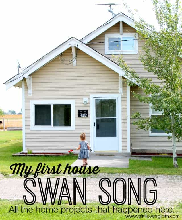 My First House Swan Song: All of the home projects that happened in this house. Tons of links to great home tutorials in one place on www.girllovesglam.com