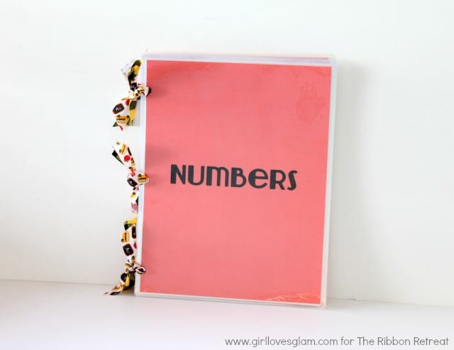 Number learning book for toddlers by www.girllovesglam.com for The Ribbon Retreat