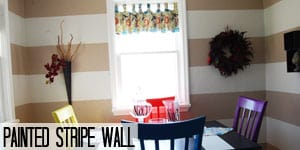Painted stripe wall tutorial on www.girllovesglam.com