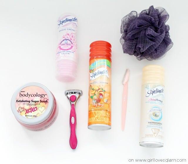 Skin beauty routine for body on www.girllovesglam.com #SkintimateStars