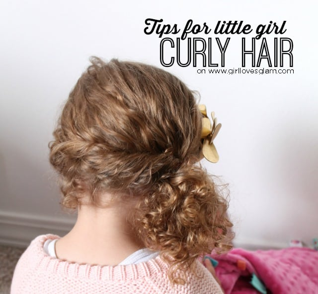 Tips for Little Girl Curly Hair on www.girllovesglam.com