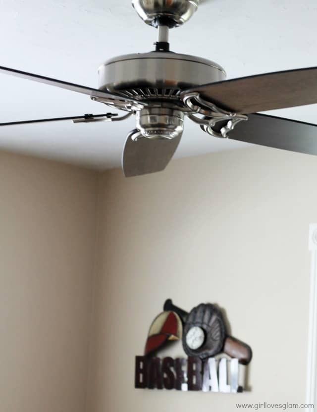 After installing ceiling fan