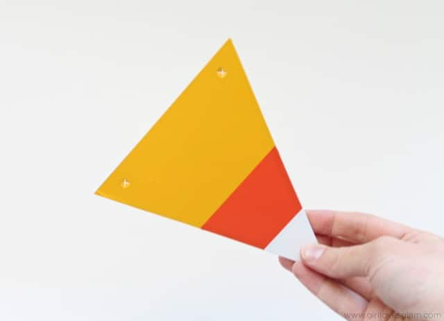 DIY Candy Corn decoration on www.girllovesglam.com