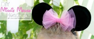 DIY Minnie Mouse Headband on www.girllovesglam.com