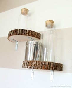 DIY Modern Wood Slice Shelf on www.girllovesglam.com
