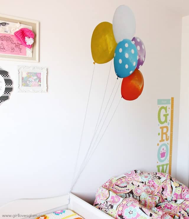 Floating Balloon Wall Decal on www.girllovesglam.com