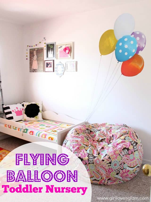 Flying Balloon Toddler Bedroom on www.girllovesglam.com