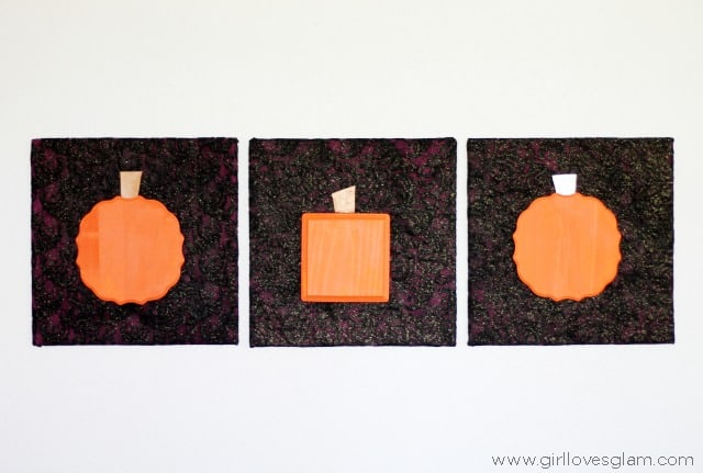 Geometric Pumpkin Artwork Halloween Decor from www.girllovesglam.com