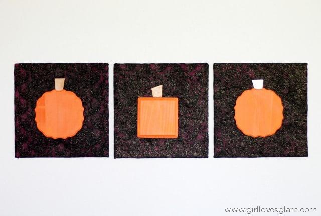 Geometric Pumpkin Artwork Halloween Decor from www.girllovesglam.com