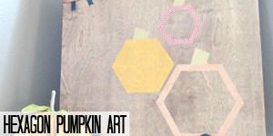 Hexagon Pumpkin Art