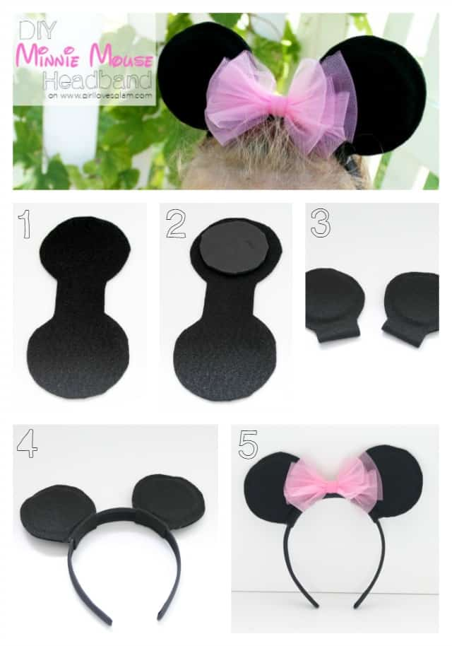 Diy Sew Minnie Mouse Costume on Foam Circles