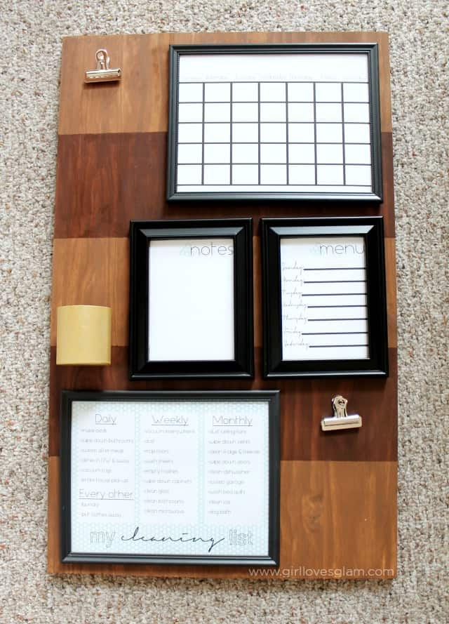 How to make a family command center on www.girllovesglam.com