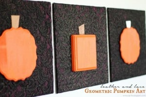 Leather and Lace Geometric Pumpkin Art Halloween Tutorial from www.girllovesglam.com