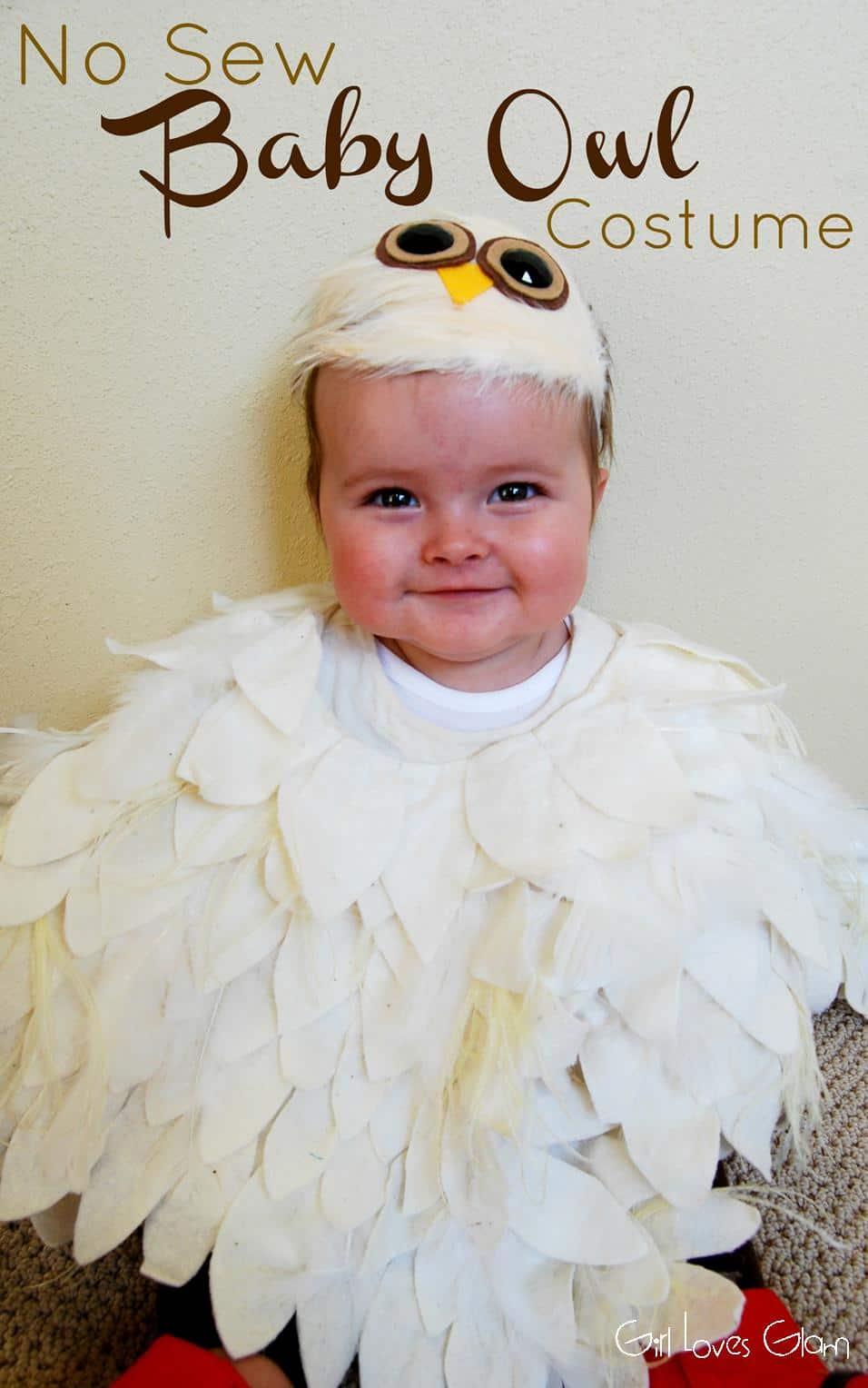 No Sew Baby Owl Costume