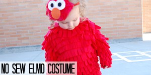 No Sew Elmo Costume