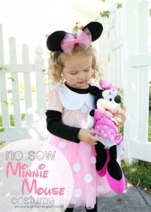 No Sew Minnie Mouse Costume on www.girllovesglam.com