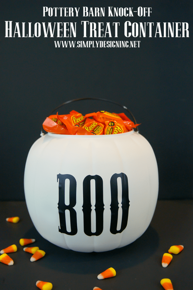 Pottery Barn Knock-Off Halloween Treat Container