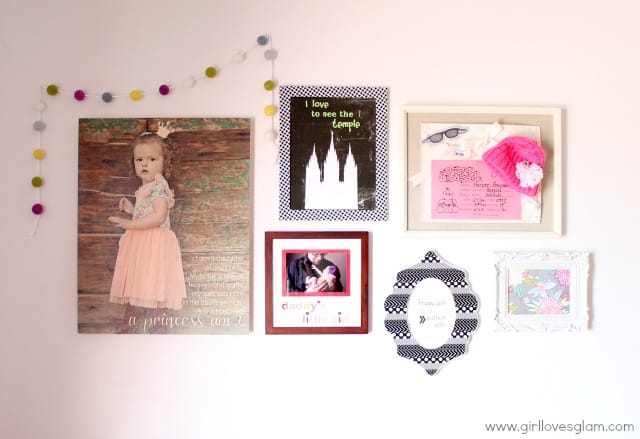 Toddler Kid Room Gallery Wall on www.girllovesglam.com