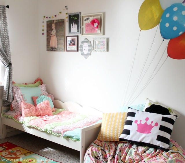 Colorful Toddler Nursery on www.girllovesglam.com