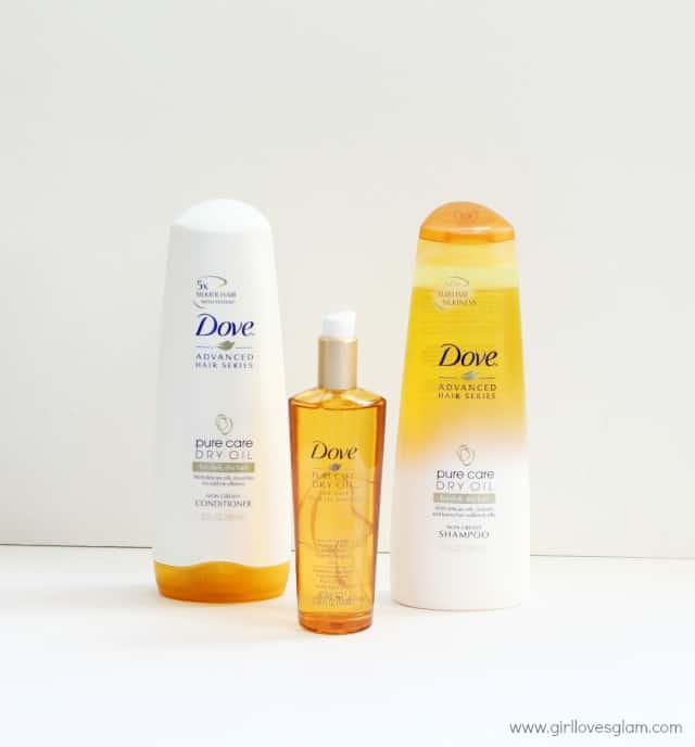 Dove Pure Care Dry Oil on www.girllovesglam.com