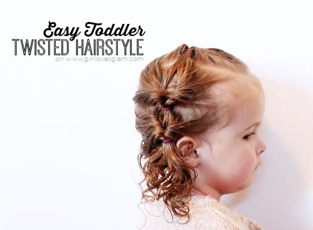 Easy Toddler Twisted Hairstyle on www.girllovesglam.com