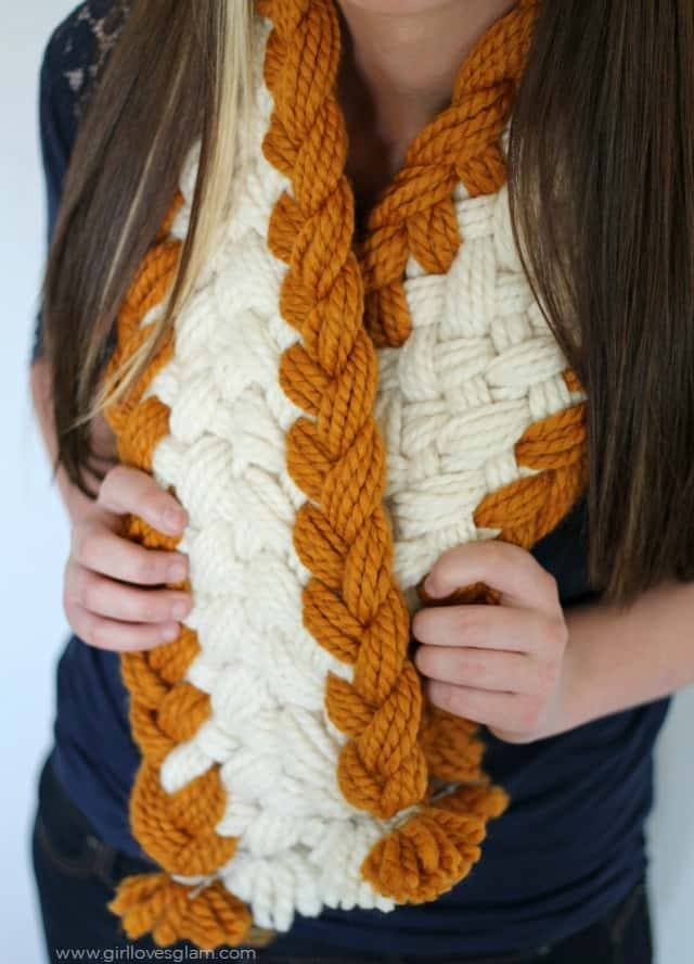 Gorgeous Chunky Braided Scarf on www.girllovesglam.com