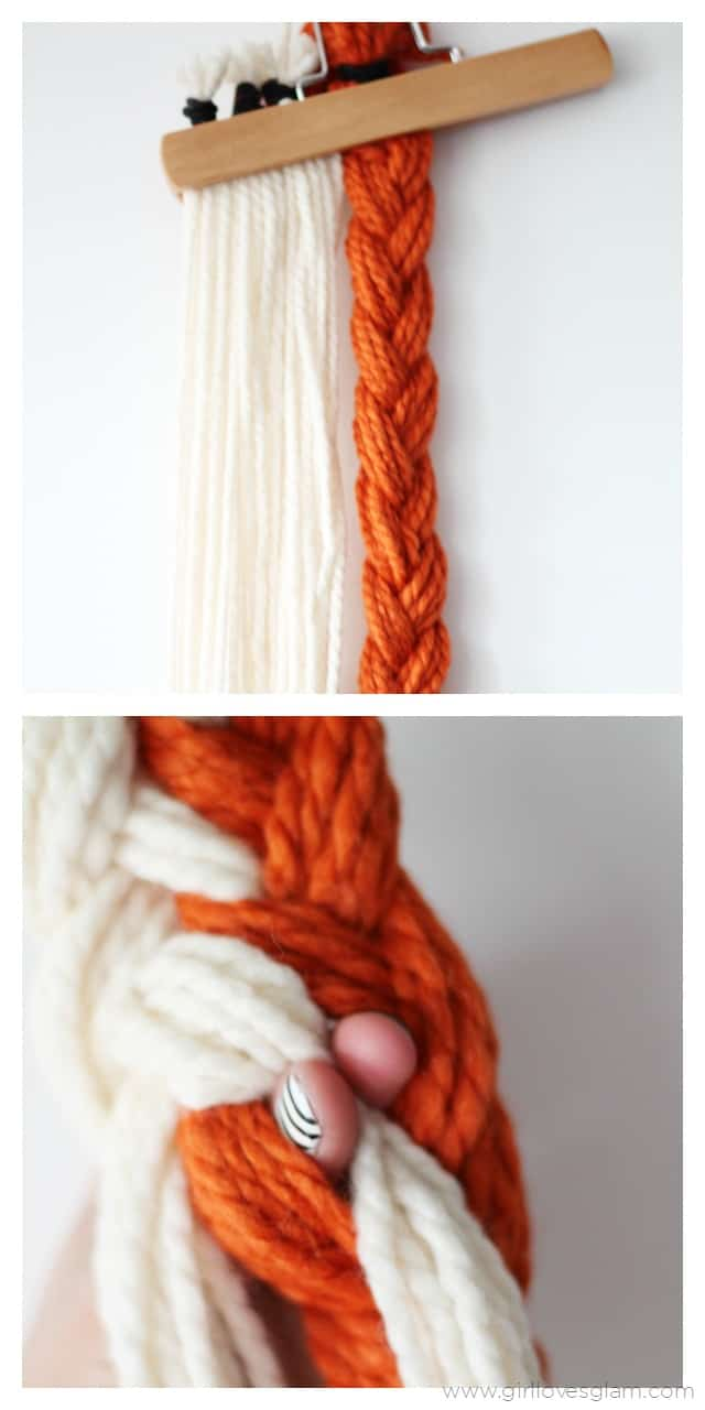 How to make a braided scarf on www.girllovesglam.com