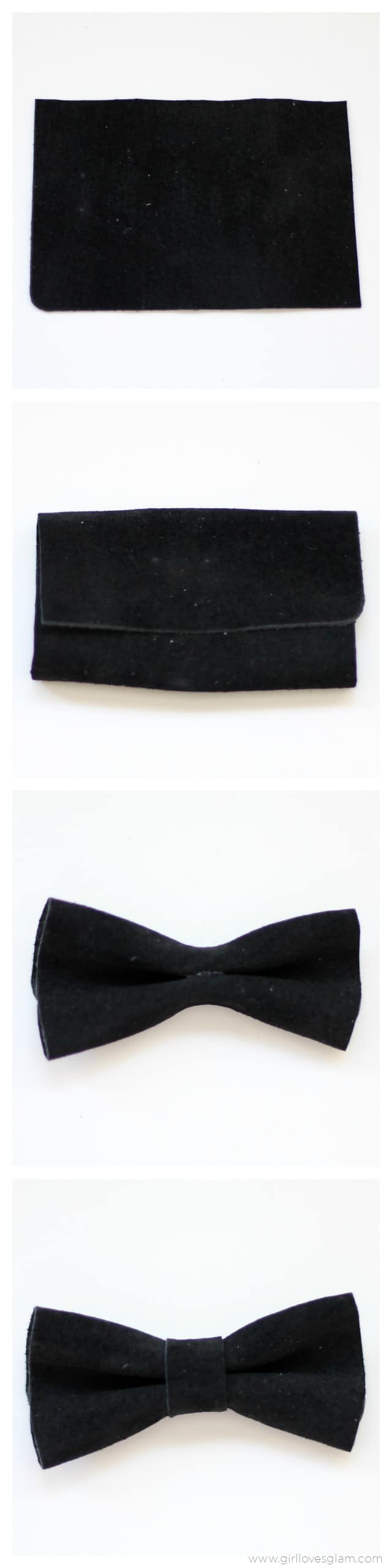 How to make a leather bow on www.girllovesglam.com