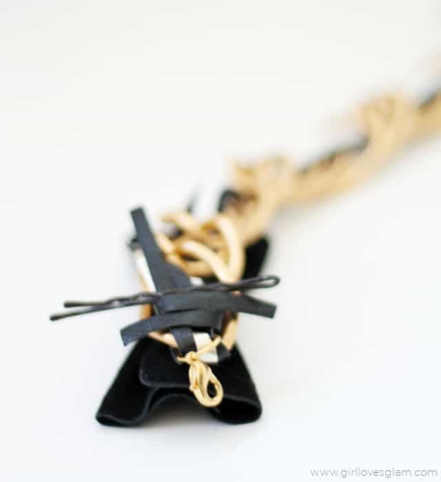 How to make a leather chain bracelet on www.girllovesglam.com