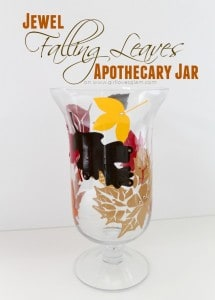 Jewel Falling Leaves Apothecary Jar on www.girllovesglam.com