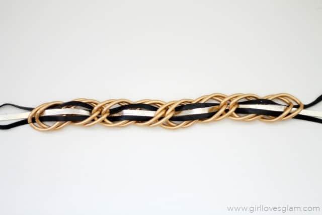 Leather Chain Bracelet on www.girllovesglam.com