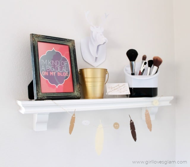 Modern Funky Shelf Display on www.girllovesglam.com