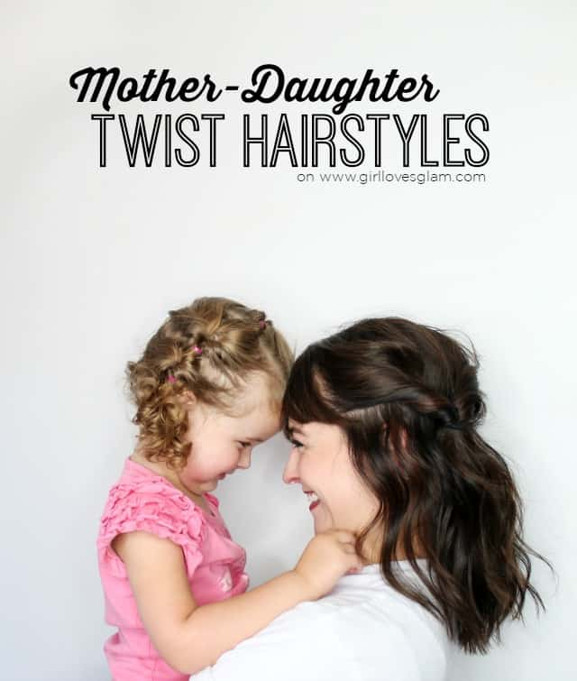 Mother Daughter Twist Hairstyles on www.girllovesglam.com