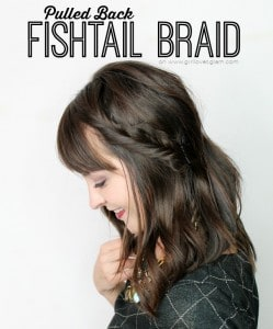 Pulled Back Fishtail Braid on www.girllovesglam.com